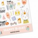 """Наклейки """"Happy B-day"""""""