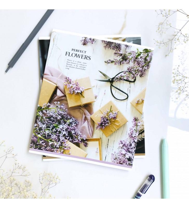"Тетрадь =36 ""Flowers"" lilac"