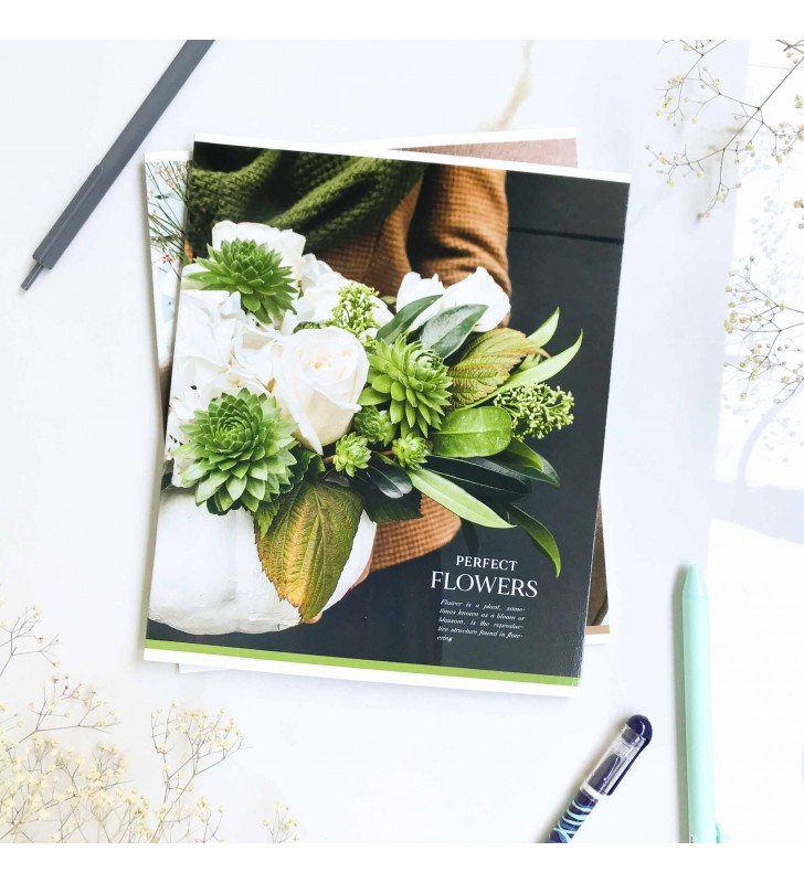 "Тетрадь =36 ""Flowers"" succulent"