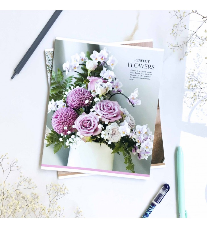 "Тетрадь #36 ""Flowers"" orchids"