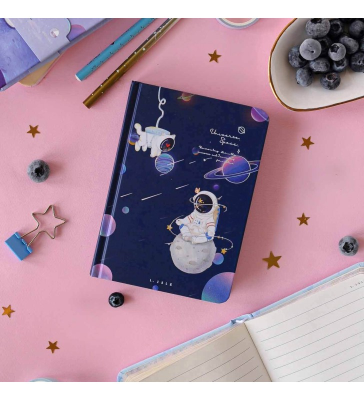 """Блокнот 3в1 """"Space Cat"""" синий"""