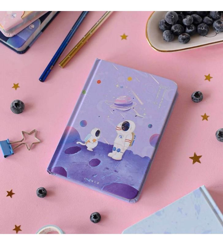 """Блокнот 3в1 """"Space Cat"""" фиолетовый"""