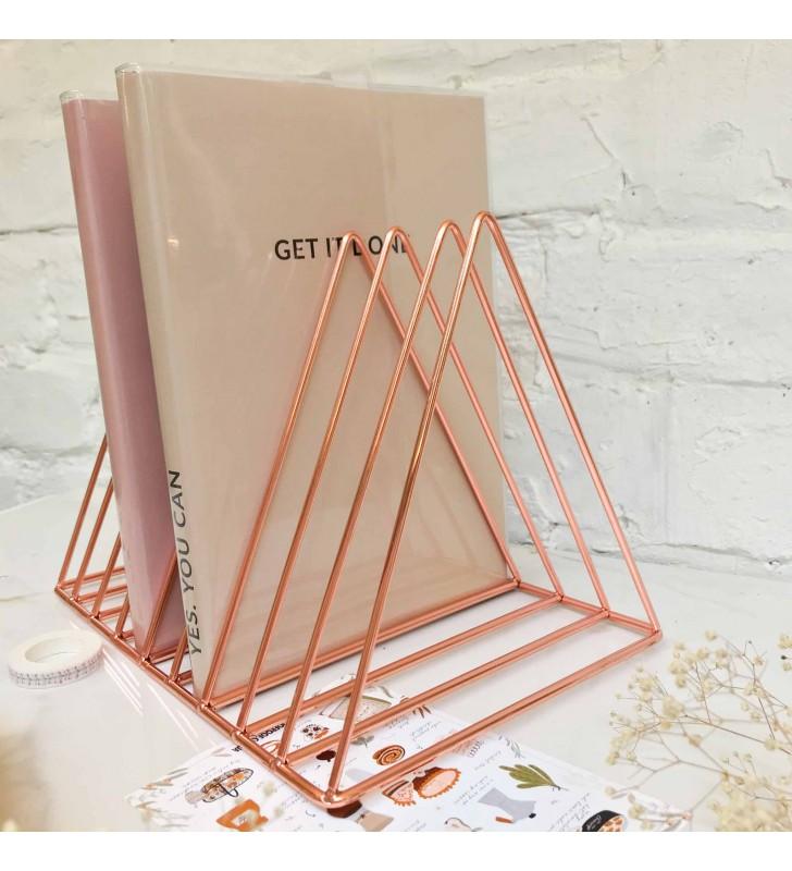 "Подставка для книг ""Triangle"" rose gold"