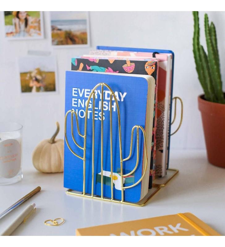 """Подставка-держатель для книг """"Cactus"""" gold"""