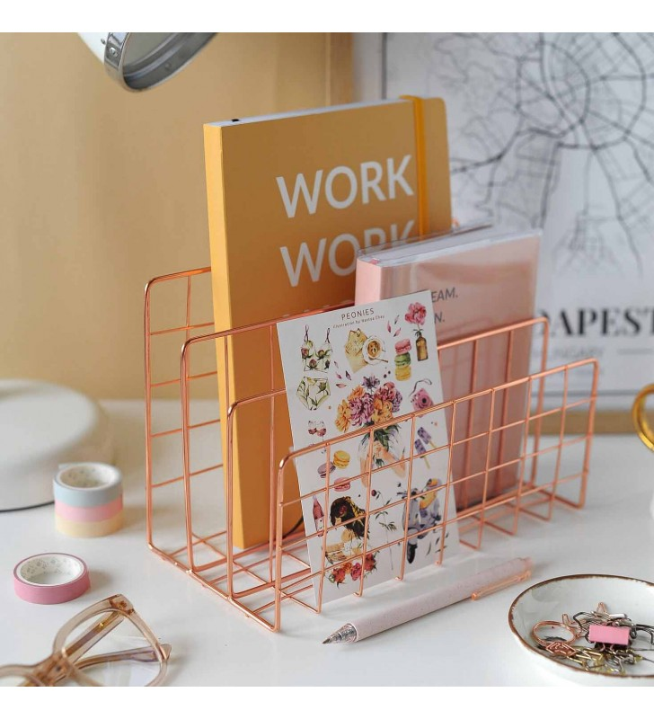 """Подставка для книг """"Style"""" rose gold"""