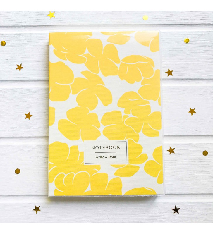 "Блокнот ""Write & Draw"" Yellow flowers"