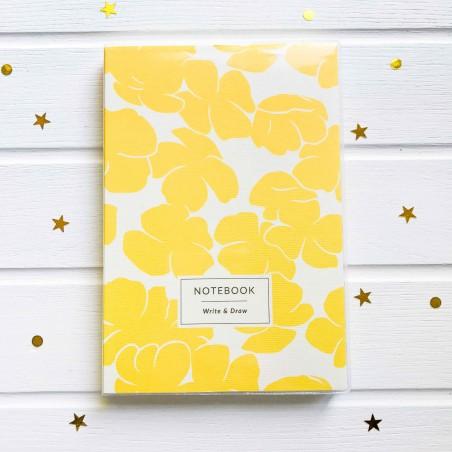 """Блокнот """"Write & Draw"""" Yellow flowers"""