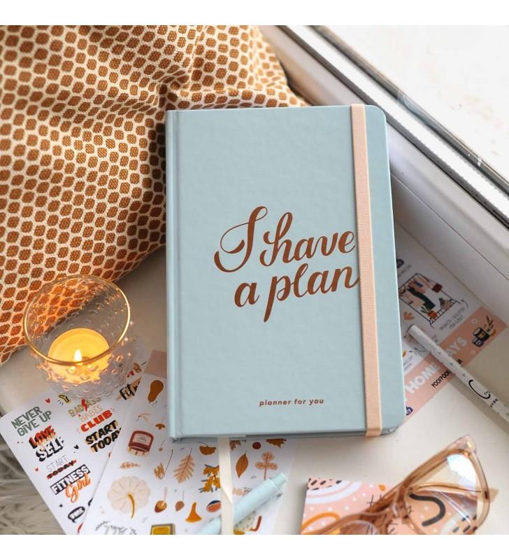 """Недельный планер """"I have a plan"""" mint"""