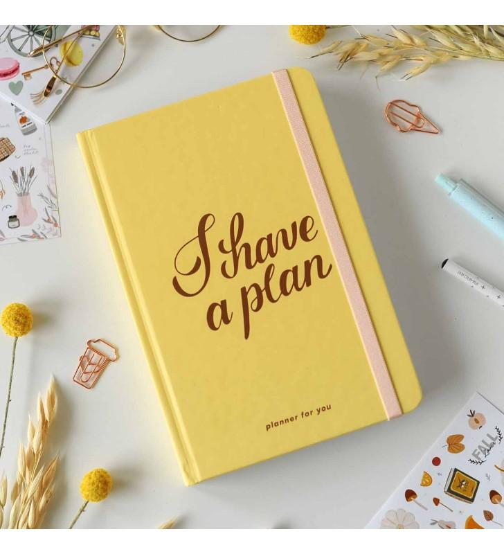 """Недельный планер """"I have a plan"""" yellow"""