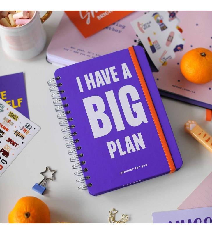 """Недельный планер """"I HAVE A BIG PLAN!"""" violet"""