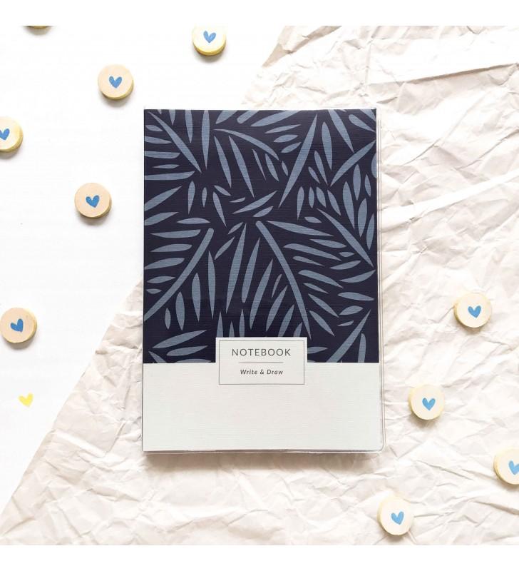 """Блокнот """"Write & Draw"""" Blue leaves"""
