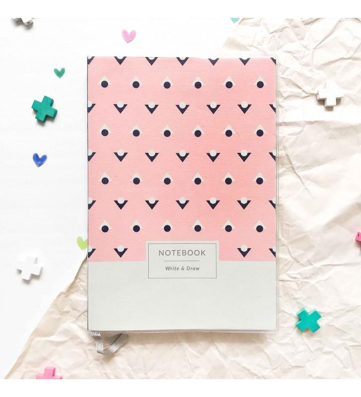 """Блокнот """"Write & Draw"""" Pink dots"""