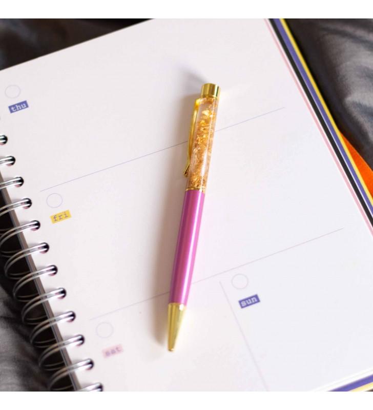 """Подарочная ручка """"Firework"""" розовая"""