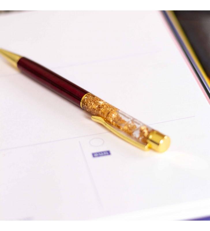 """Подарочная ручка """"Firework"""" бордовая"""