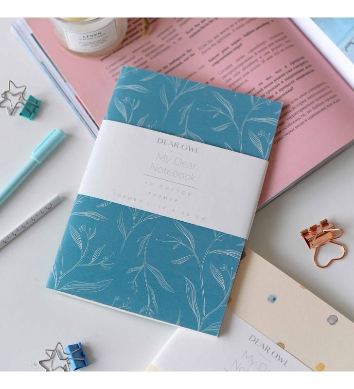 """Скетчбук """"Floral"""" Tender Blue"""