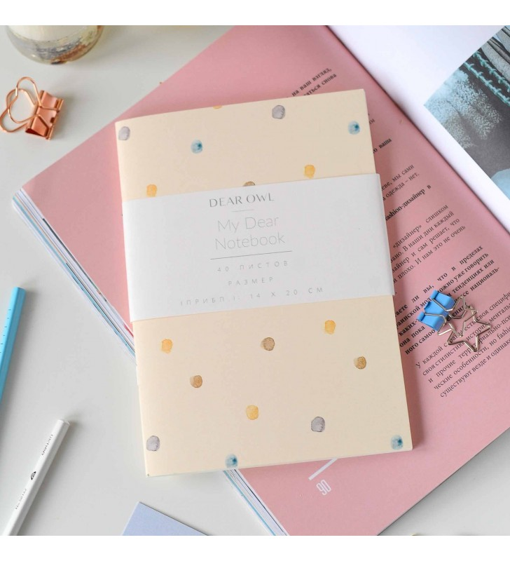 "Скетчбук ""Floral"" Pastel Dots"