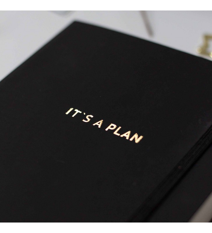 """Недельный планер """"It's a plan"""" black"""