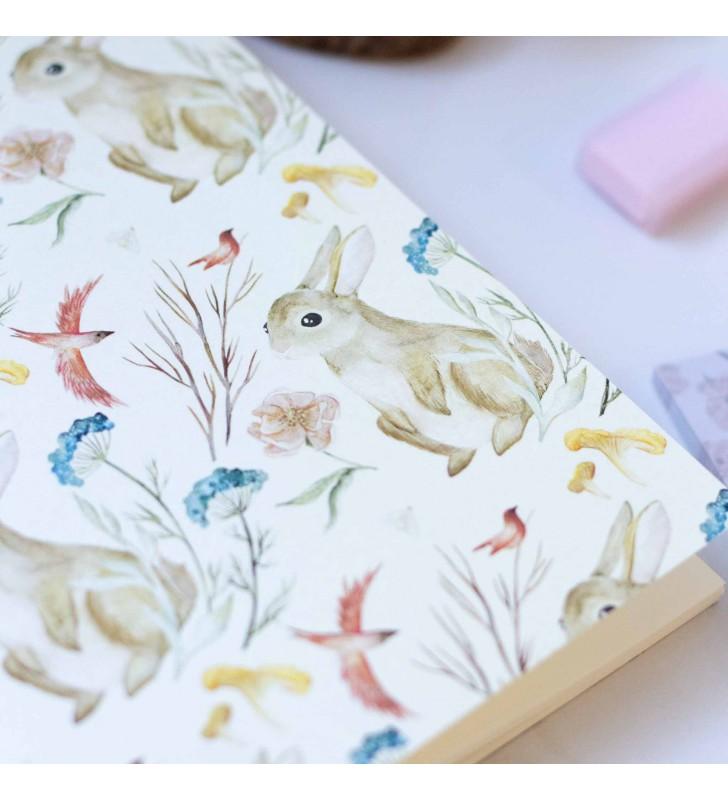 """Скетчбук """"Floral"""" Hare"""