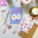 "Набор открытка + лист наклеек ""Only love"" lala love"
