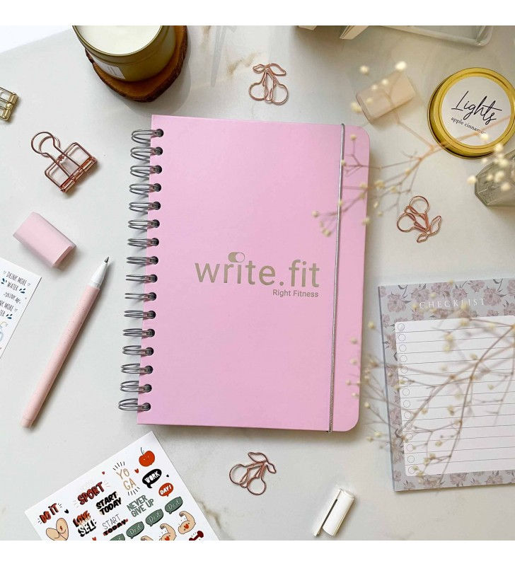"Спортивный планер ""Write.fit"" pink"