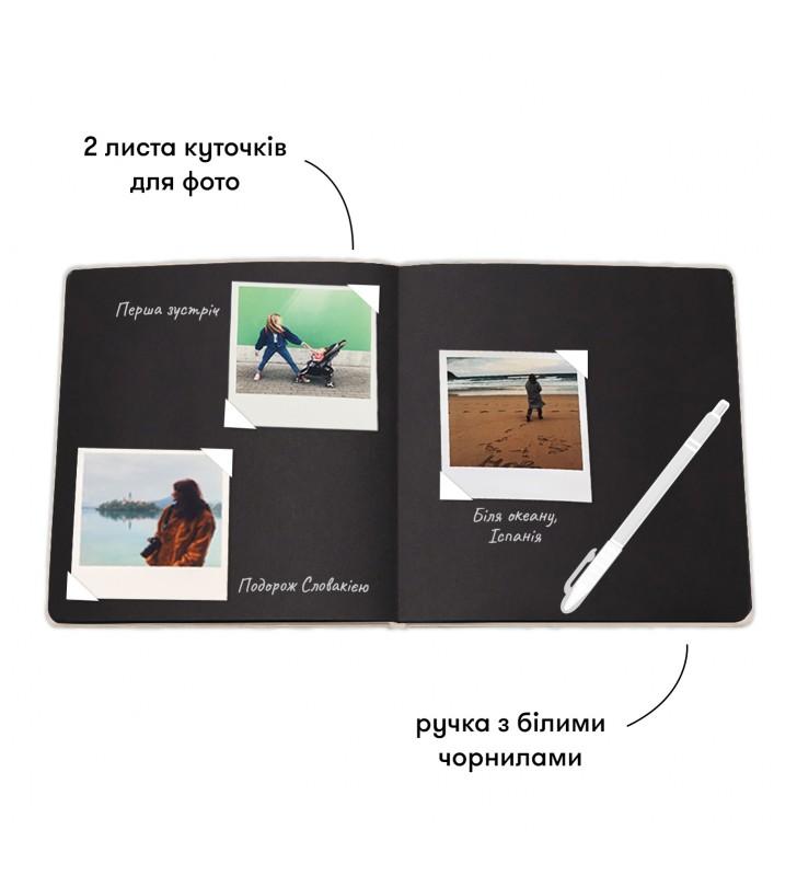 """Фотоальбом """"Ніжні спогади та теплі миті"""" black edition"""