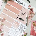 "Магнитный планер ""Weekly plan"" A3 pink gradient"