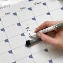 """Магнитный планер """"Monthly plans"""" A3 white&blue"""