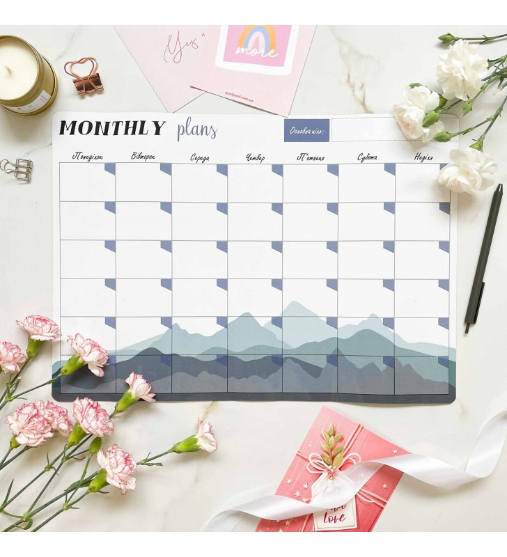 "Магнитный планер ""Monthly plans"" A3 the mountains"