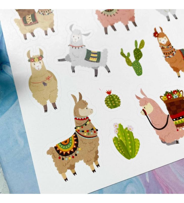 """Наклейки """"Lama and cactus set"""""""