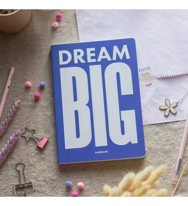 """Блокнот в клеточку """"Dream Big"""" blue"""