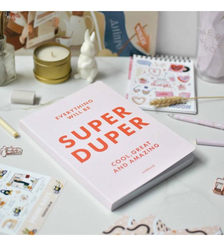 "Блокнот в клеточку ""Super duper"" pink"