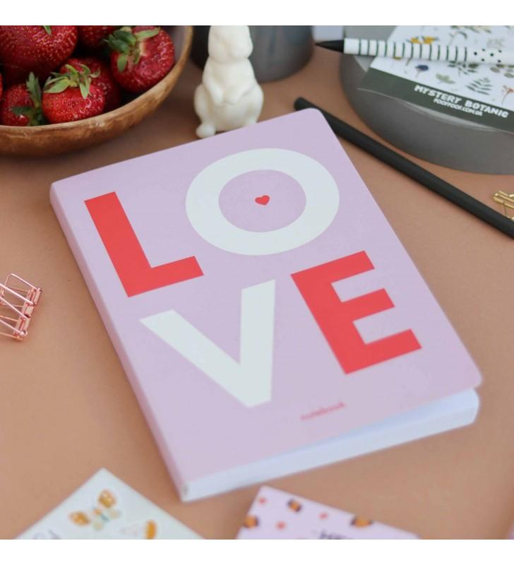 """Блокнот в клеточку """"Love"""" pink"""