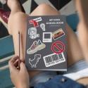 """Школьный дневник """"Stickers grey"""""""