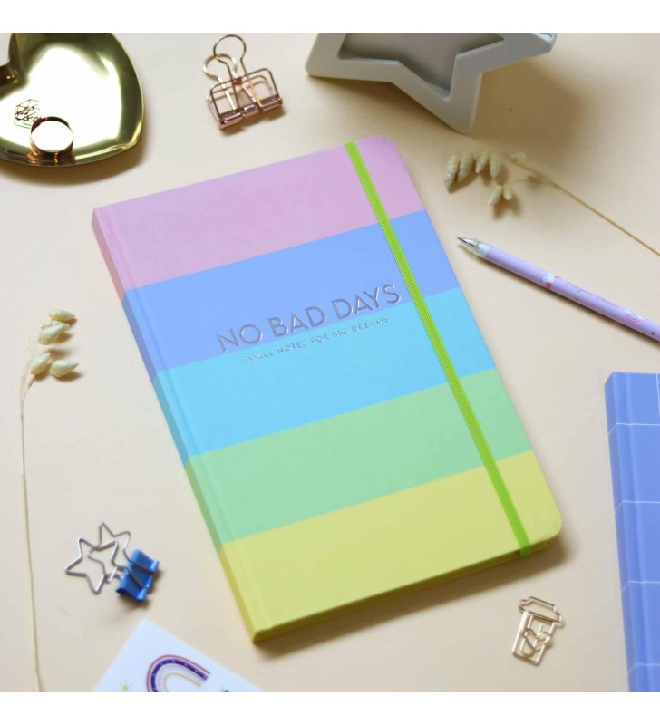 """Блокнот """"No bad days"""" rainbow"""