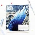 "Тетрадь #96 ""Stone"" blue"