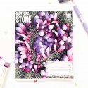 "Тетрадь #96 ""Stone"" violet"