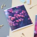 "Тетрадь #48 ""Mysterious garden"" pink flower"