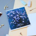 """Тетрадь #60 """"Mysterious garden"""" violet flowers"""