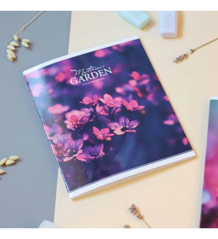 "Тетрадь #60 ""Mysterious garden"" pink flower"
