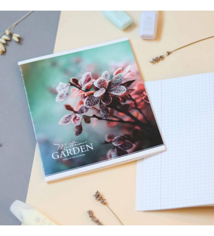 "Тетрадь #48 ""Mysterious garden"" winter flower"