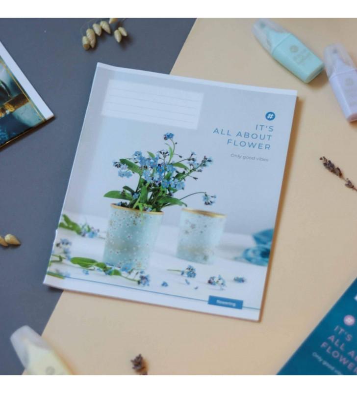 Тетрадь 24кл About flowers blue