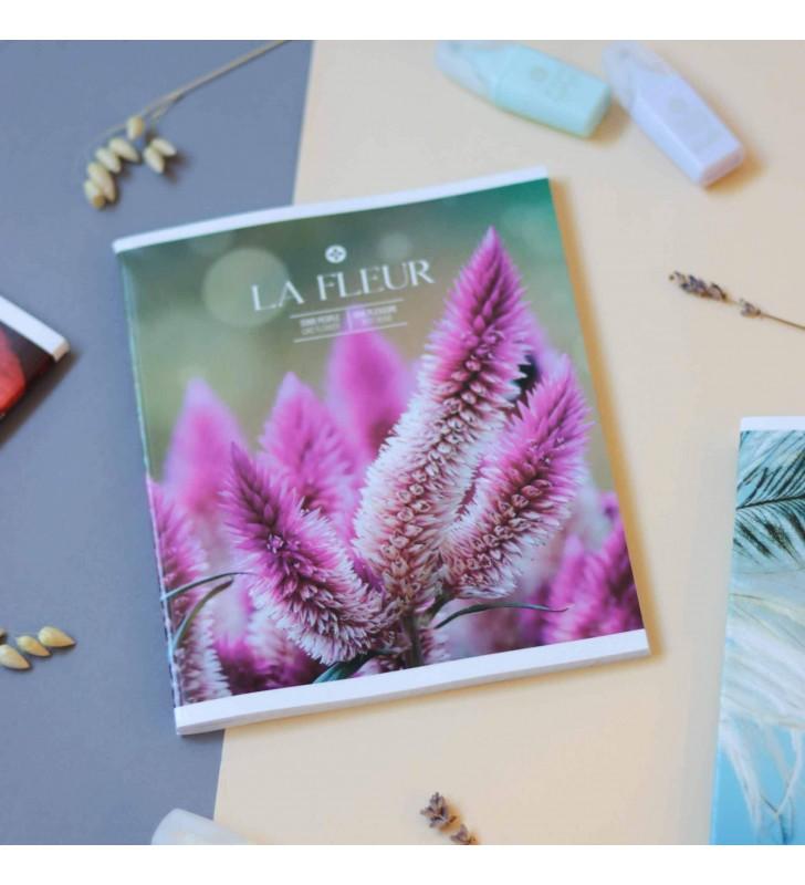 """Тетрадь #96 """"La Fleur"""" Pink flowers"""
