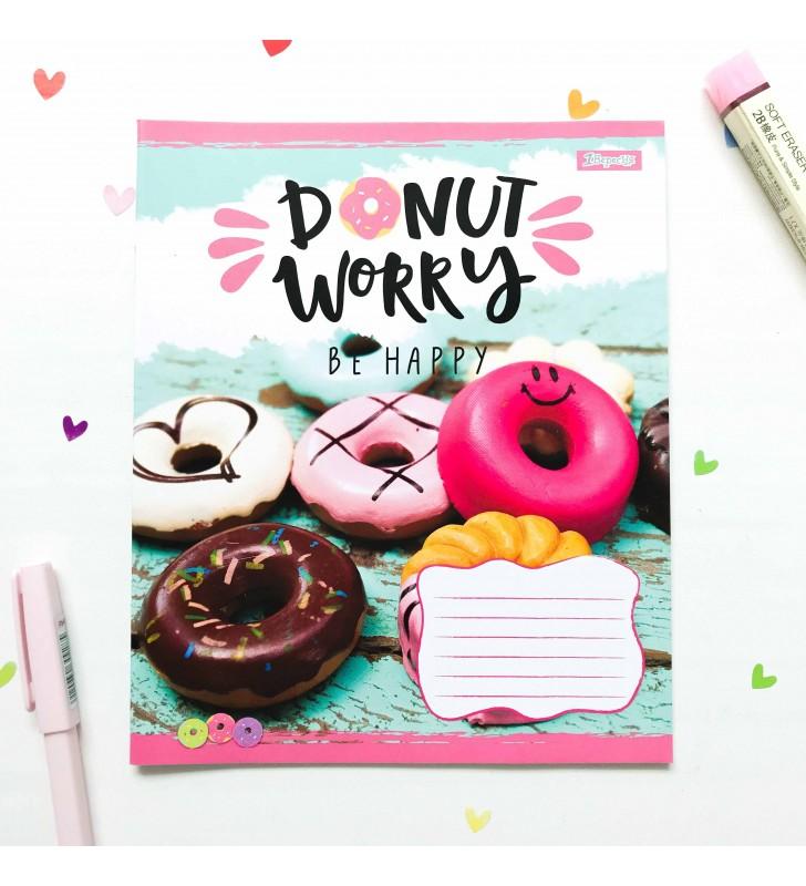 """Тетрадь =24 """"Donut"""" brown"""