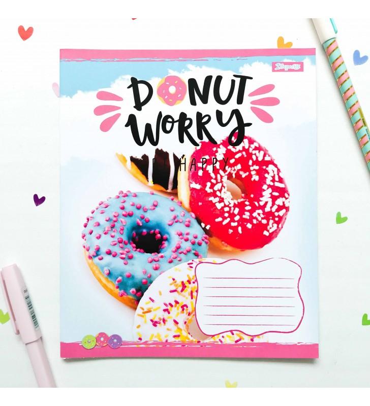 "Тетрадь =24 ""Donut"" blue"