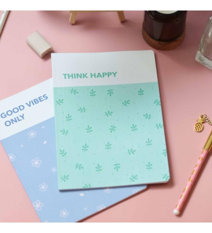 """Блокнот в точку """"Think happy"""" mint"""