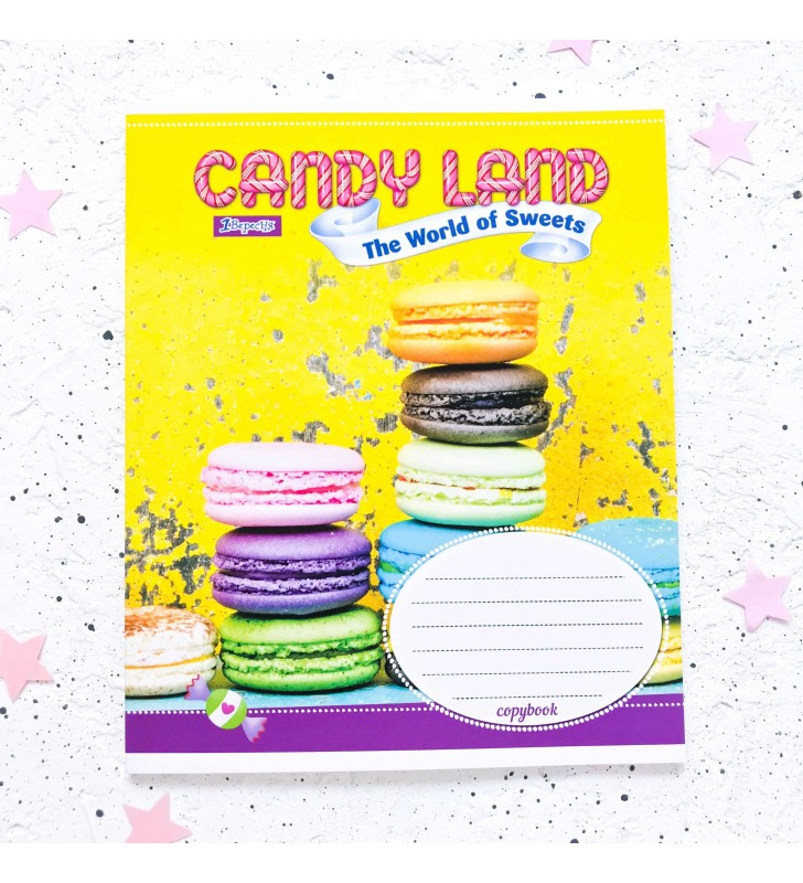 "Тетрадь =48 ""Candy land"" macarons"