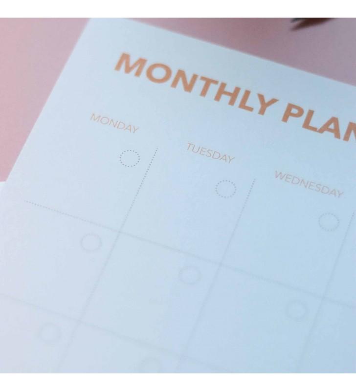 """Настольный планер """"Monthly planner"""" yellow"""