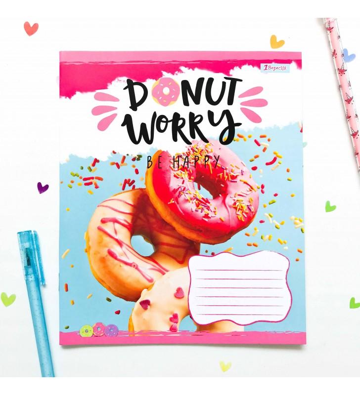 """Тетрадь #12 """"Donut"""" pink"""