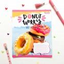 """Тетрадь #12 """"Donut"""" yellow"""
