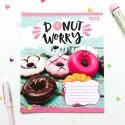 """Тетрадь #12 """"Donut"""" brown"""